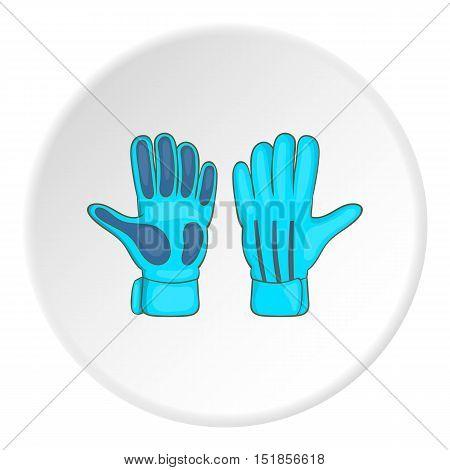 Goalkeeper gloves icon. Cartoon illustration of goalkeeper gloves vector icon for web