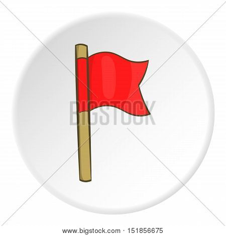 Red flag icon. Cartoon illustration of red flag vector icon for web
