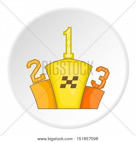 Podium winners icon. Cartoon illustration of podium winners vector icon for web