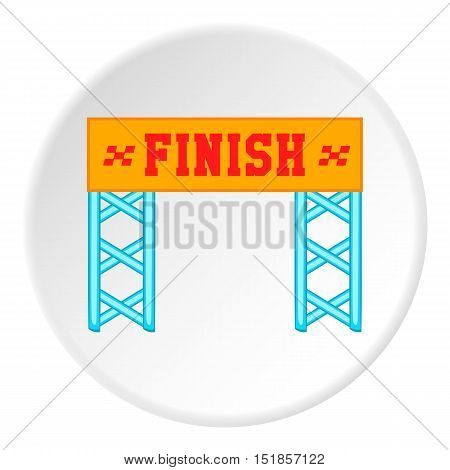 Finish line icon. Cartoon illustration of finish line vector icon for web
