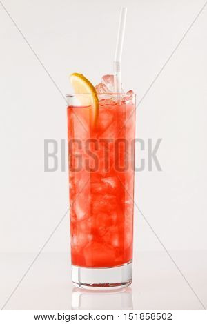 cocktail on the white background