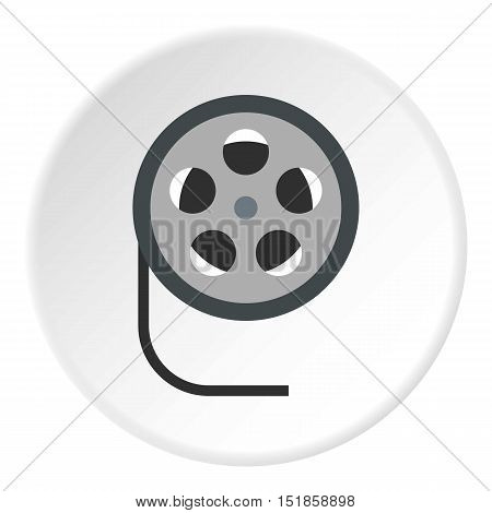 Film reel icon. Flat illustration of film reel vector icon for web design