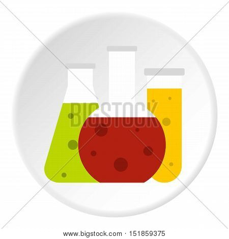 Chemical tubes icon. Flat illustration of tubes vector icon for web design