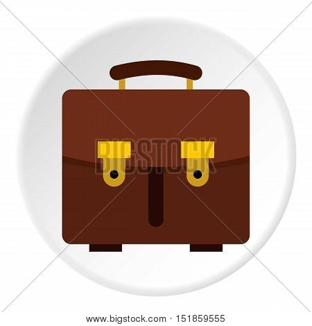 School bag icon. Flat illustration of school bag vector icon for web design