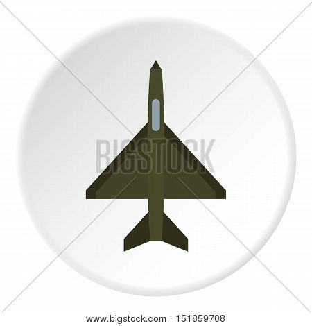 Fighter plane icon. Flat illustration of airplane vector icon for web design