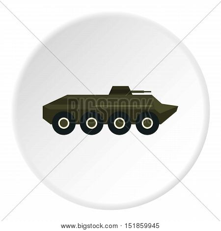 Armored troop-carrier icon. Flat illustration of troop-carrier vector icon for web design