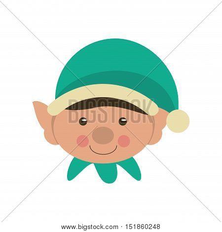 Elf icon. Merry christmas season celebration and decoration theme. Isolated design. Vector illustration