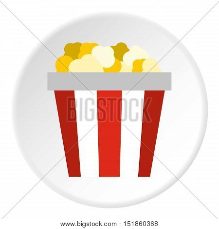 Popcorn box icon. Flat illustration of popcorn box vector icon for web design