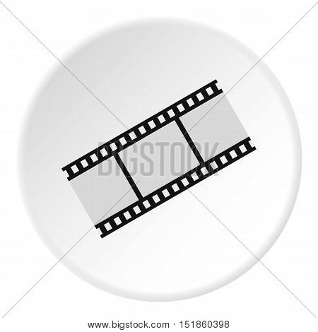Film strip icon. Flat illustration of film strip vector icon for web design