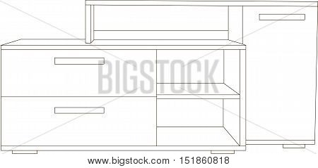 Vector illustration the modern chest of drawers