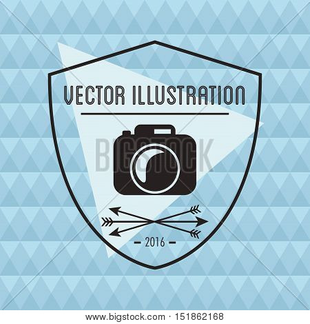 Camera  icon. Hipster style vintage retro fashion and culture theme. Colorful design. Vector illustration