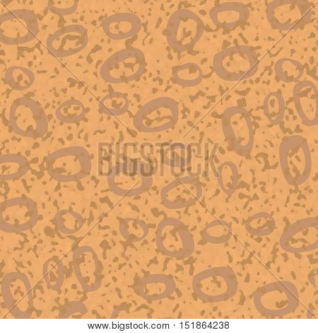 Abstract speckled beige vector background with spots