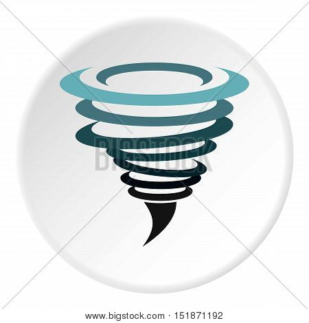 Hurricane icon. Flat illustration of hurricane vector icon for web