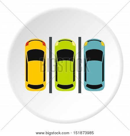 Parking icon. Flat illustration of parking vector icon for web