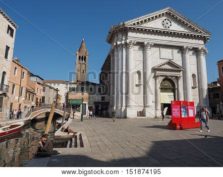 San Barnaba Church In Venice