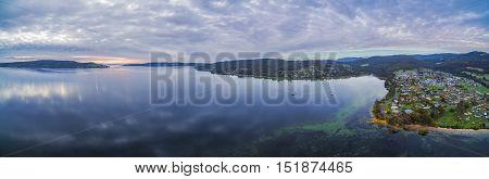 Aerial Panorama Of North West Bay, Tasmania