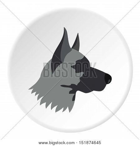 Shepherd dog icon. Flat illustration of shepherd dog vector icon for web