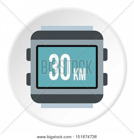 Speedometer for bike icon. Flat illustration of speedometer for bike vector icon for web
