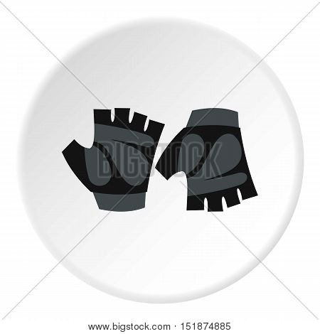 Gloves for biker icon. Flat illustration of gloves for biker vector icon for web