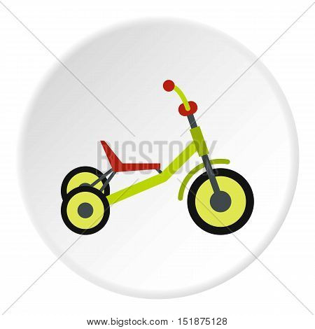 Tricycle icon. Flat illustration of tricycle vector icon for web