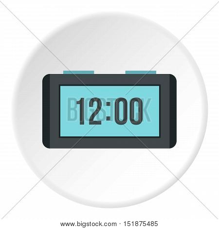 Table electronic watch icon. Flat illustration of table electronic watch vector icon for web