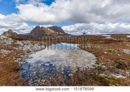 Famous Cradle Mountain In The National Park Named After It In Tasmania