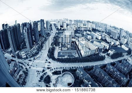 Aerial photography Shanghai China modern city skyscraper landscape