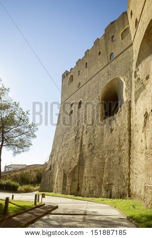 Castel Sant'Elmo fortress in Naples city, Italy