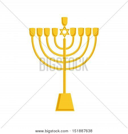 Golden Menorah Icon
