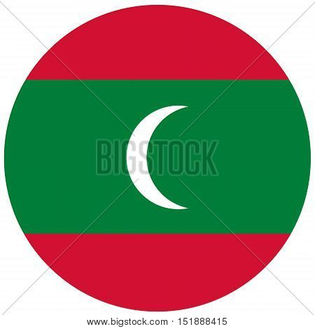 Round Maldives Flag