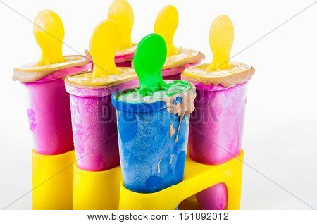 organic chocolate popsicle in multiple collor boxes