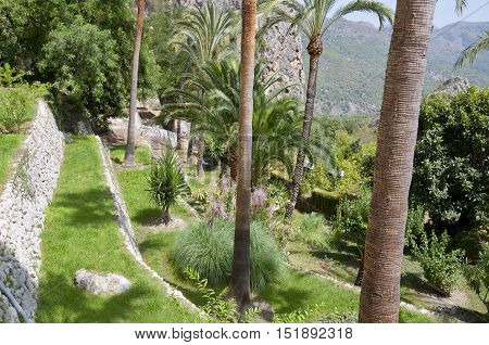 Gardens at El Castell de Guadalest Alicante Spain