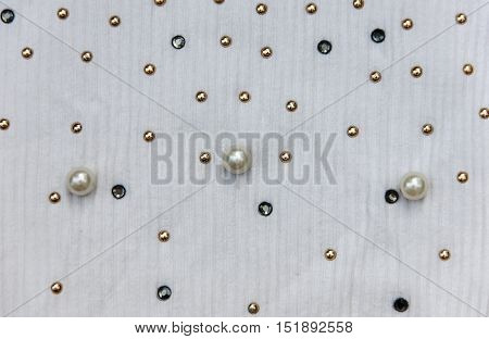 Texture Of Knitted Fabric With Beads, Ribbed Fabric, Fabric For Textile For Background And Texture