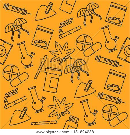 Pills and Drugs in Pattern for Background Design.
