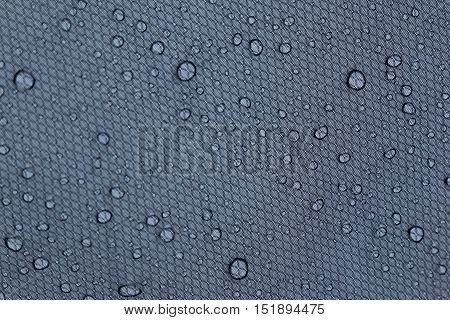 Water drops on a gray background. Abstract background.