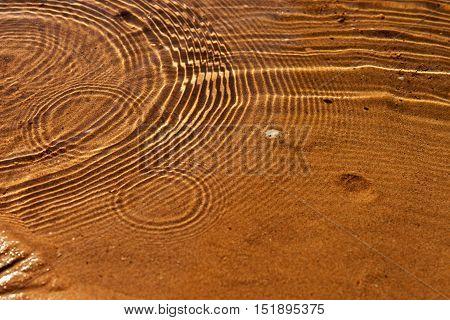 Water waves and ripples at the beach, circle water ripple
