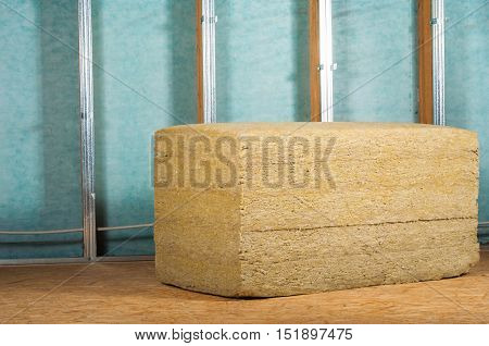 home attic renovation insulation with rock wool