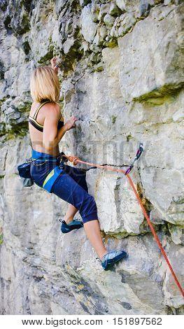 Sport Climbing Outdoors.