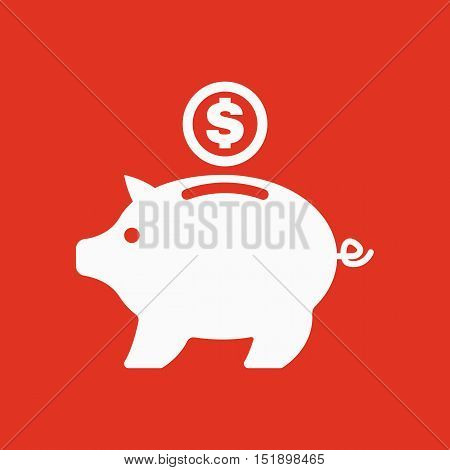 The moneybox icon. Cash and money, wealth, savings symbol. Flat Vector illustration