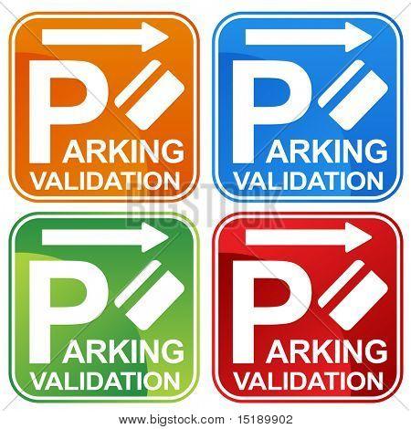 Muestra del boleto de estacionamiento validación