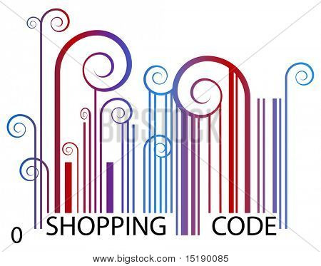 An artsy image of a shopping barcode.