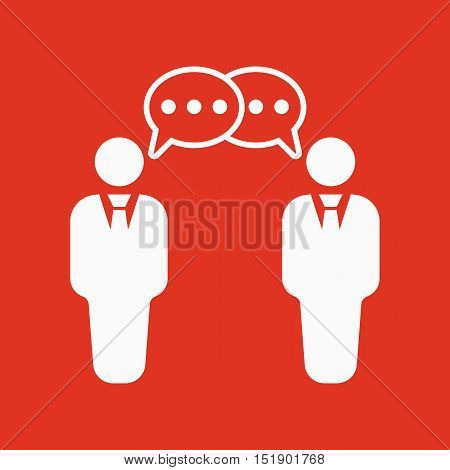 The negotiations icon. Debate and dialog, discussion, conversations symbol. Flat Vector illustration