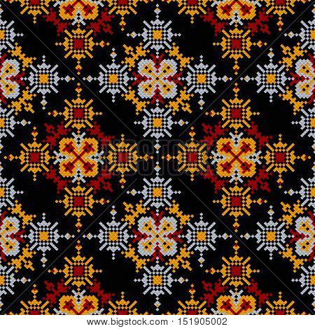 seamless pattern aztec beading embroidery. Vector background for textile, fabrics, clothing. tribal national ornament decoration