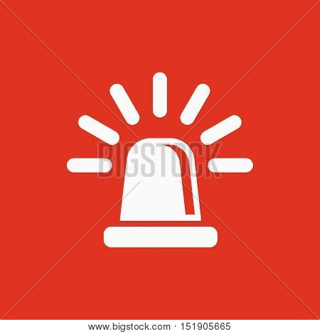 The flasher icon. Police and  ambulance, alarm, beacon symbol. Flat Vector illustration