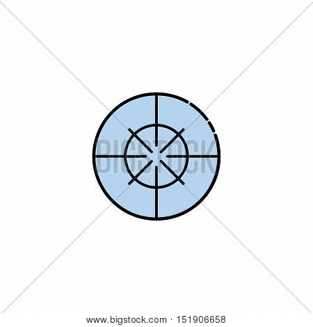 Hunting icon. Target. Flat style Vector illustration EPS 10