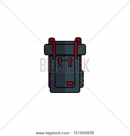 Hunting icon. Rucksack. Flat style Vector illustration EPS 10