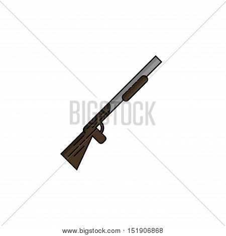 Hunting icon. Rifle. Flat style Vector illustration EPS 10