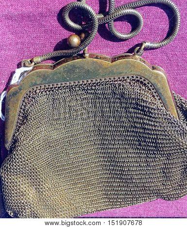 woman purse. characteristic object. retro. theatre. vintage