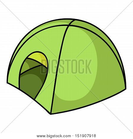 Tent icon in cartoon style isolated on white background. Ski resort symbol vector illustration.