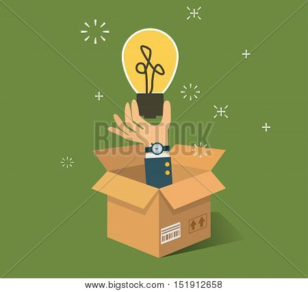 Think Outside The Box . Vector illustration EPS10